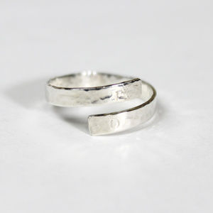 Initial Wrap Around Ring Sterling Silver .925